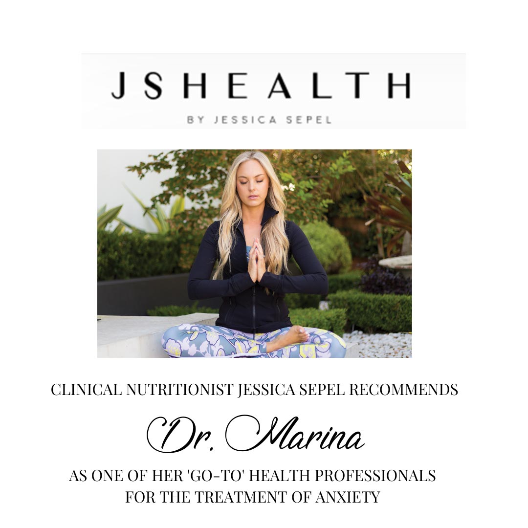 Dr. Marina has been recommended as a key person to treat anxiety