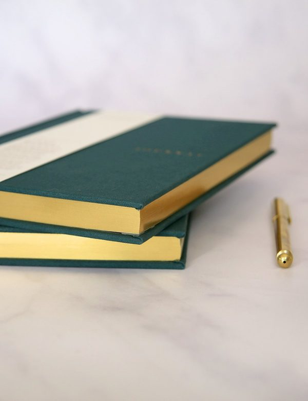 Linen Bound Journal – Teal